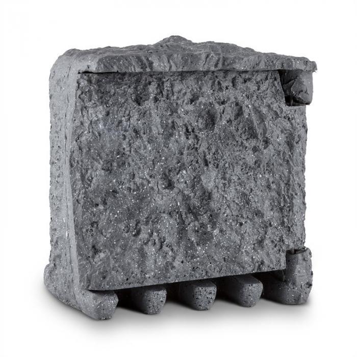 Digital Rock Gartensteckdose 2-fach Verteiler 3 m Zeitschaltuhr Fels