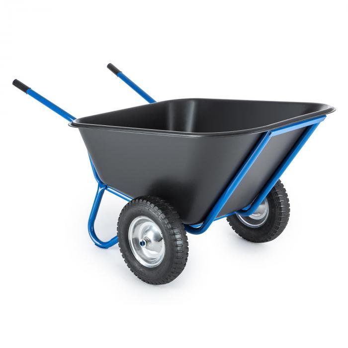 colossus schubkarre hofkarre stallkarre 300l 350 kg 2 r der blau online kaufen elektronik. Black Bedroom Furniture Sets. Home Design Ideas