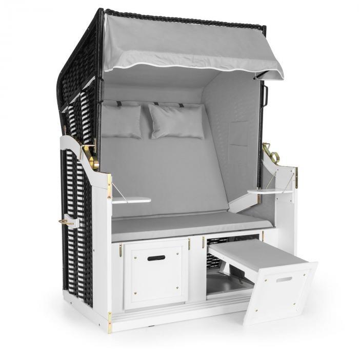hiddensee strandkorb xl 2 sitzer volllieger grau online kaufen elektronik star de. Black Bedroom Furniture Sets. Home Design Ideas