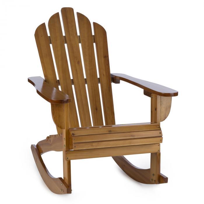 Rushmore sedia a dondolo da giardino adirondack 71x95x105 marrone electronic star it - Sedia a dondolo da giardino ...