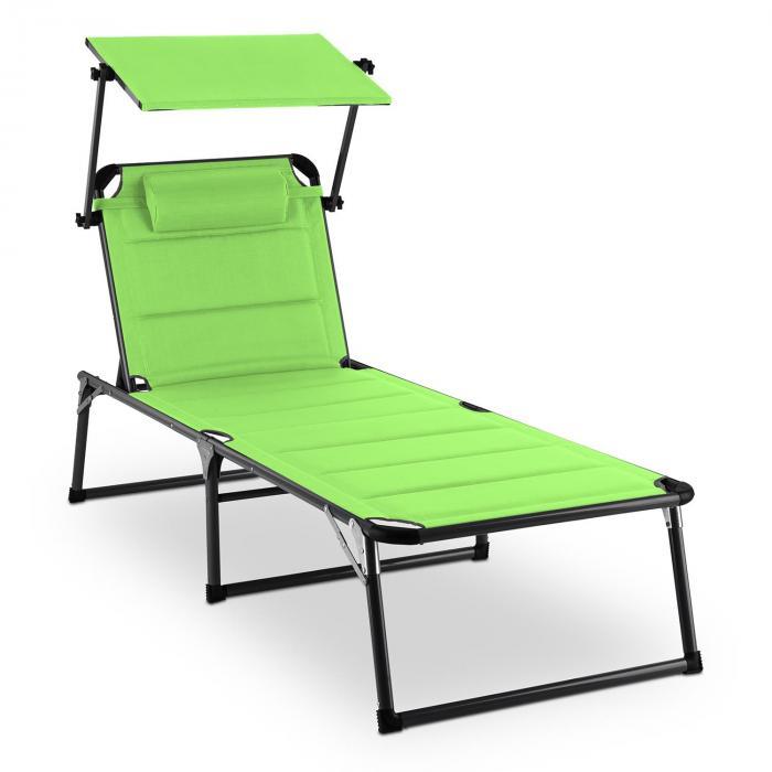 Amalfi Juicy Lime aurinkotuoli 70x37x200cm aurinkovarjo vihreä
