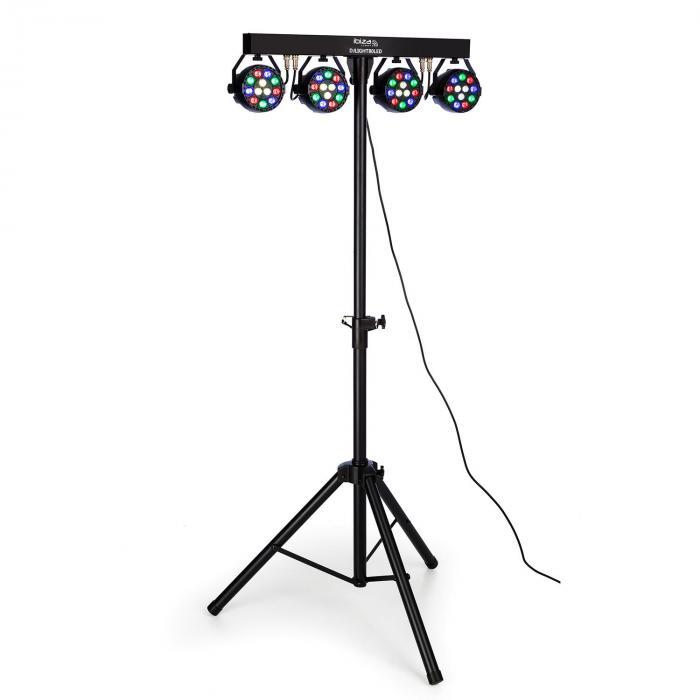 Ibiza DJLIGHT80LED statyw oświetleniowy z reflektorami 4 x 1W RGBW-LED