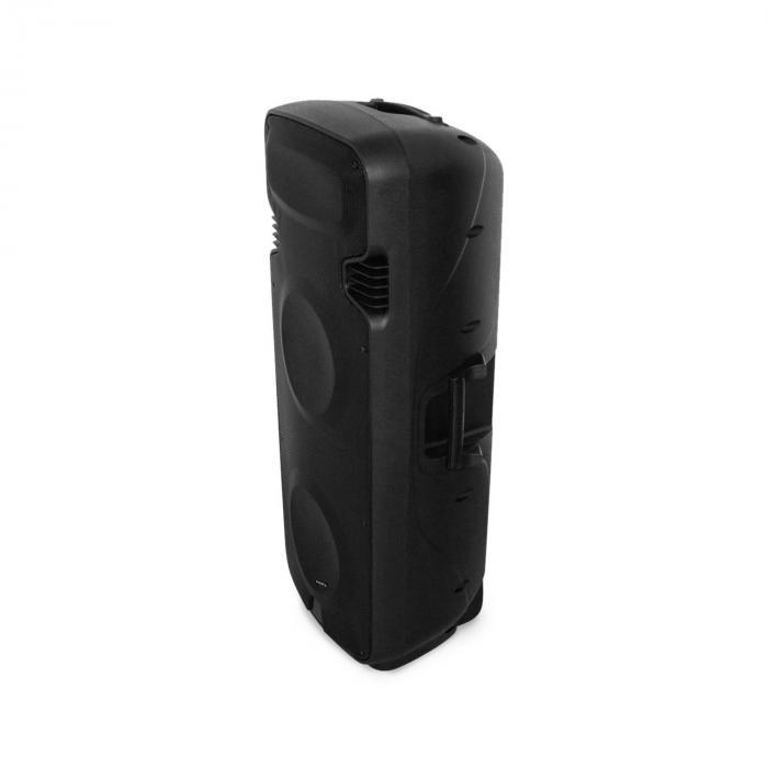 "PORT238VHF-BT 2x15"" Sistema PA mobile BT USB SD VOX 1000W max Batteria"
