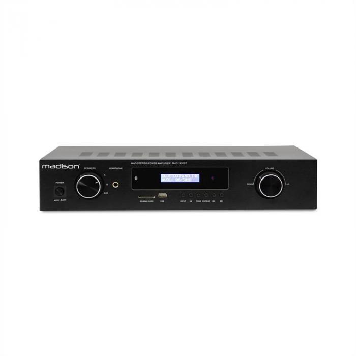 MAD-1400 BT HiFi-stereo-vahvistin Bluetooth USB SD MP3 AUX UKW