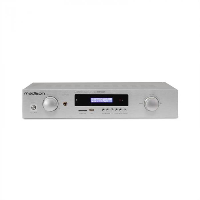 MAD-1400 BT HiFi-stereo-vahvistin Bluetooth USB SD MP3 AUX UKW valkoinen
