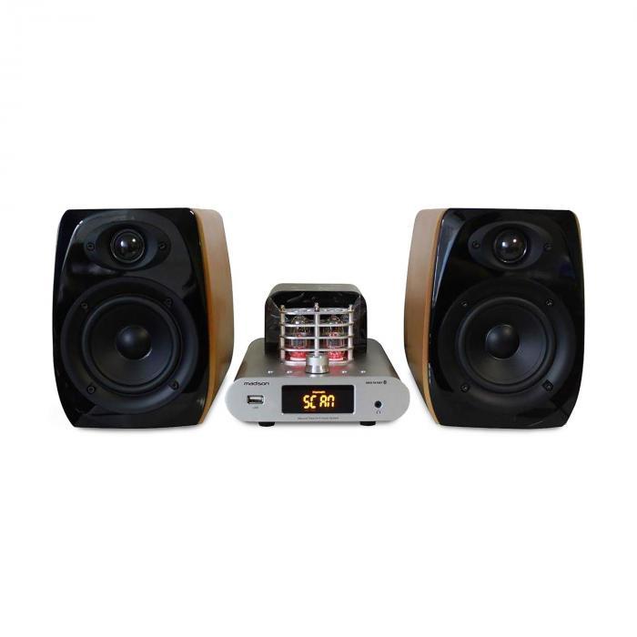 Madison MAD-TA15BT Vintage-ljudsystem Rörförstärkare 2x30W RMS Bluetooth USB