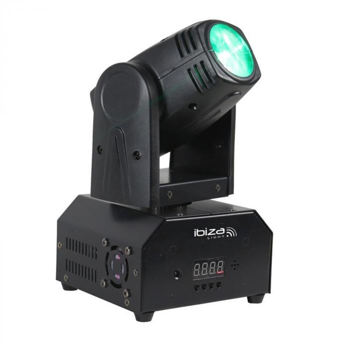 LMH250-RC moving head 4 in 1 10 W Cree-LED RGBW DMX LED sis. kaukosäätimen