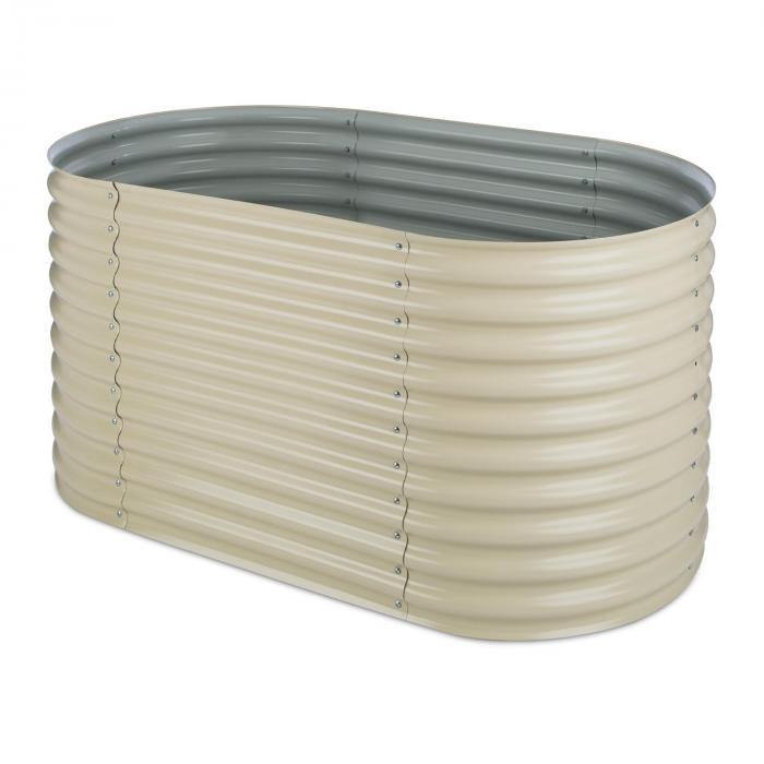 High Grow kweekbak tuinbak 1,6m zink-aluminium-laag beige