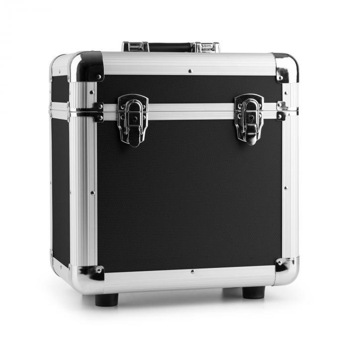 Power Dynamics RC80 Aluminiowa walizka na płyty winylowe (na 80 płyt o rozmiarze 12 cali) czarna