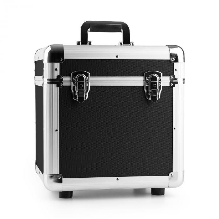 Power Dynamics RC100 Aluminiowa walizka na płyty winylowe (na 100 płyt o rozmiarze 12 cali) czarna
