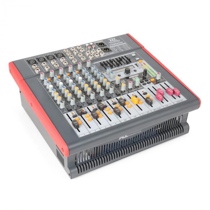 PDM-S803A aktiivinen 8-kanavainen mikseri USB DSP MP3 AUX EQ FX