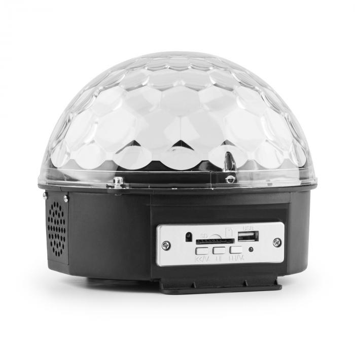 Magic Jelly DJ-pallo MP3-soitin LED-valotehoste RGB musiikkiohjaus USB SD