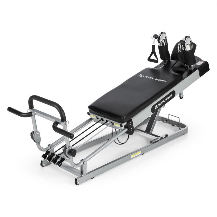 Capital Sports Pilato Pilates Reformer Pilatesbank 120kg max. höhenverstellbar