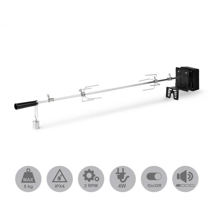 Van Helsing Elektrische Grillspit Rotisserie Grillaccessoire 5 kg Roestvrij staal