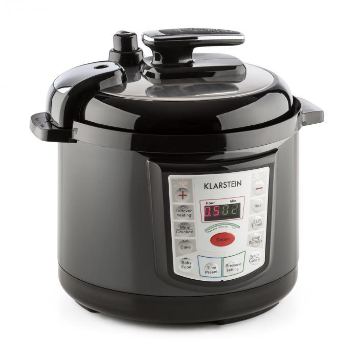 Klarstein Fast Flavour Wielofunkcyjny garnek do gotowania pod ciśnieniem szybkowar 5 l czarny