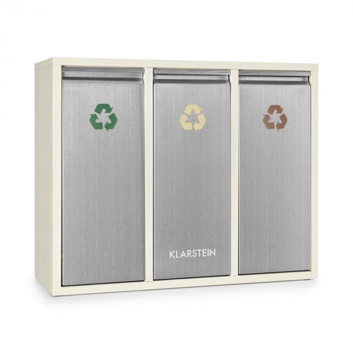 Ordnungshüter 3 Balde de lixo p/ Reciclagem 45L (3 x 15 L) Creme Bege
