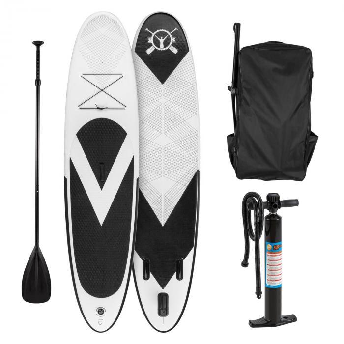 Spreestar Inflatable Paddle Board SUP Board Set 300x10x71cm black-white