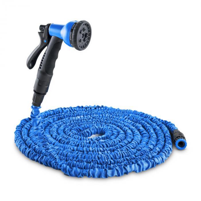 Waldbeck Flex 22 flexibler Gartenschlauch 8 Funktionen 22,5m blau