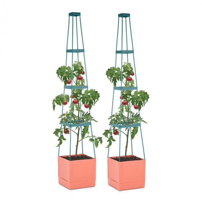 tomato tower tomaten pflanzk bel 2er set 25x150x25cm rankhilfe pp online kaufen elektronik. Black Bedroom Furniture Sets. Home Design Ideas