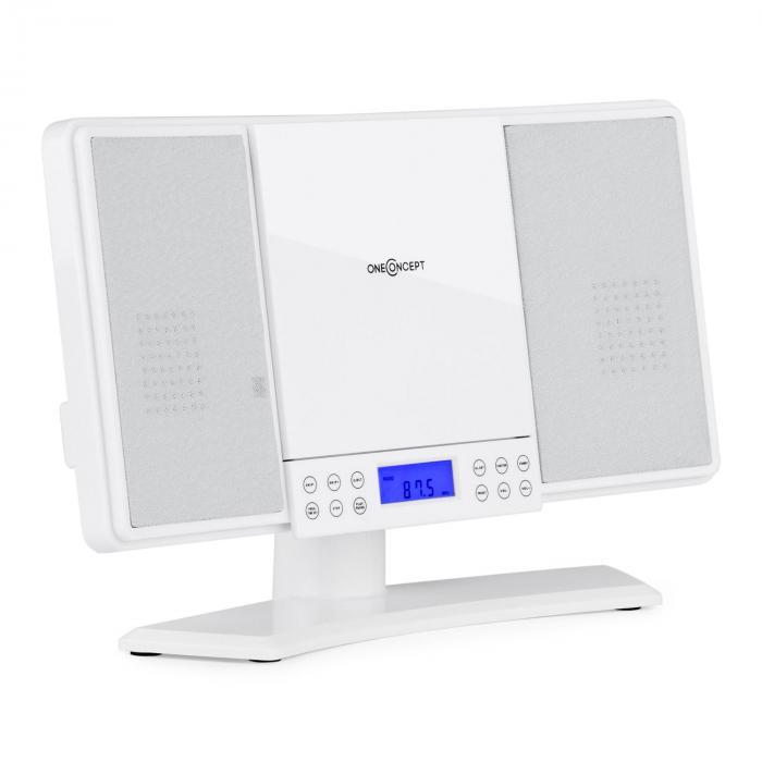 V14 Impianto Stereo CD MP3 FM Telecomando Bianco