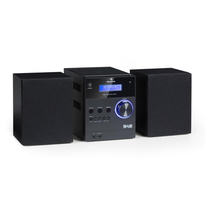 Auna MC-20 Mikrowieża stereo DAB+ Bluetooth pilot czarna