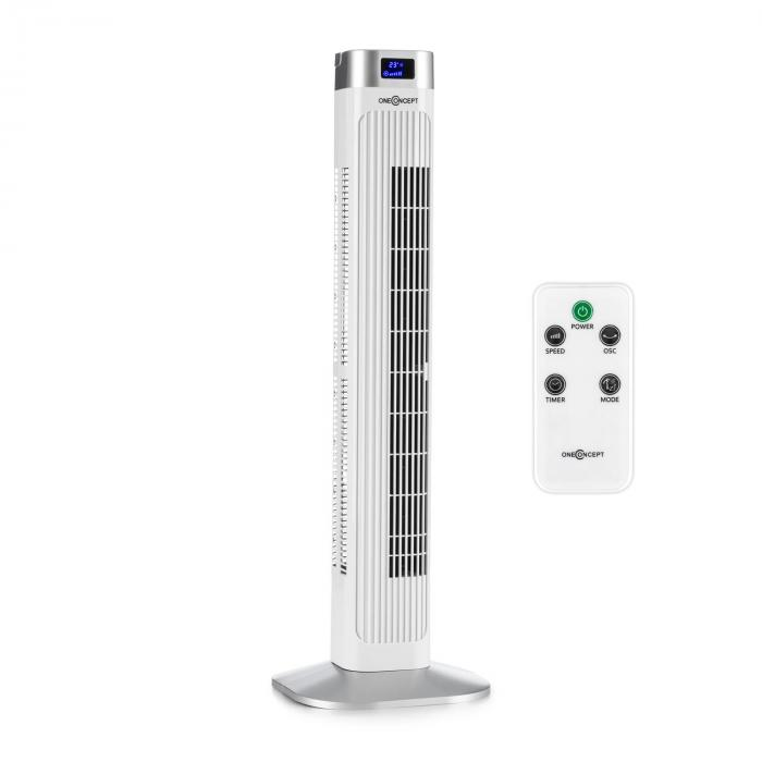 Hightower 2G Column Fan Standby Fan 50W Timer White