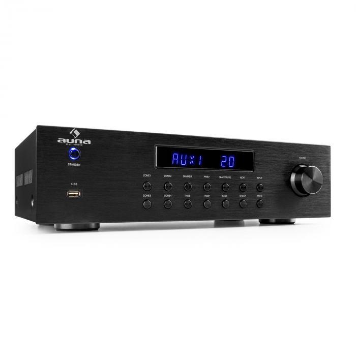 Auna AV2-CD850BT 4-strefowy wzmacniacz stereo czarny