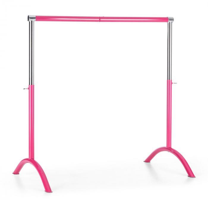 KLARFIT Bar Lerina drążek baletowy sztanga baletowa 110x113cm regulacja wysokości stal pink