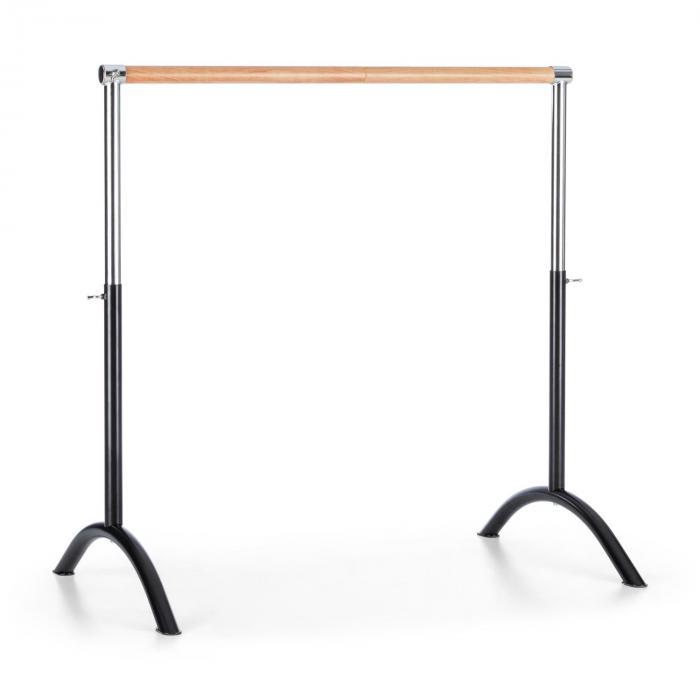 KLARFIT Bar Lerina drążek baletowy sztanga baletowa 110x113cm regulacja wysokości stalczarny