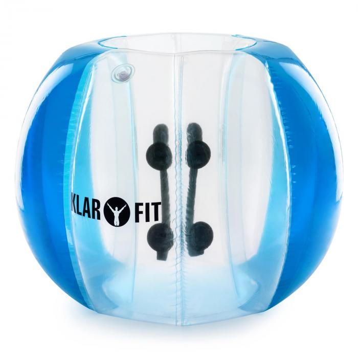 KLARFIT Bubball AB bubble ball kula dmuchana do piłki nożnej dla dorosłych niebi