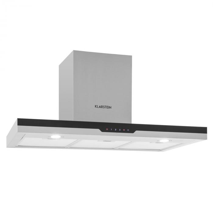 Finessa Cooker Extraction Hood Stainless Steel 90cm Wall Mounting 635m³ / h Glass Front