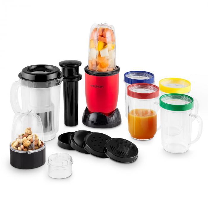 Smoothy 2G mixer vertical multifunción 4 en 1 libre de BPA rojo