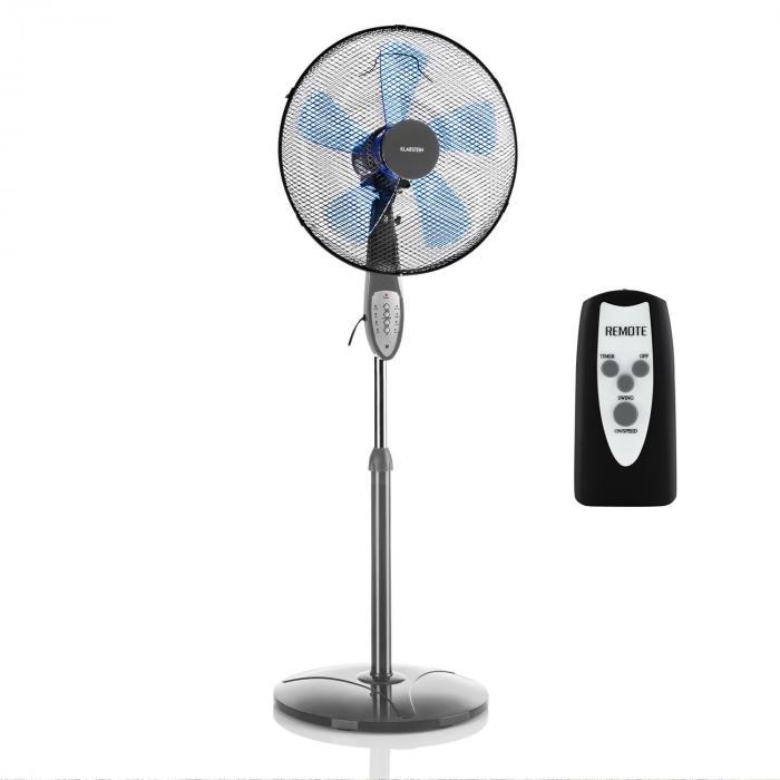 Summerjam Ventilatore a Piantana 41 cm 50W 3 Livelli Grigio