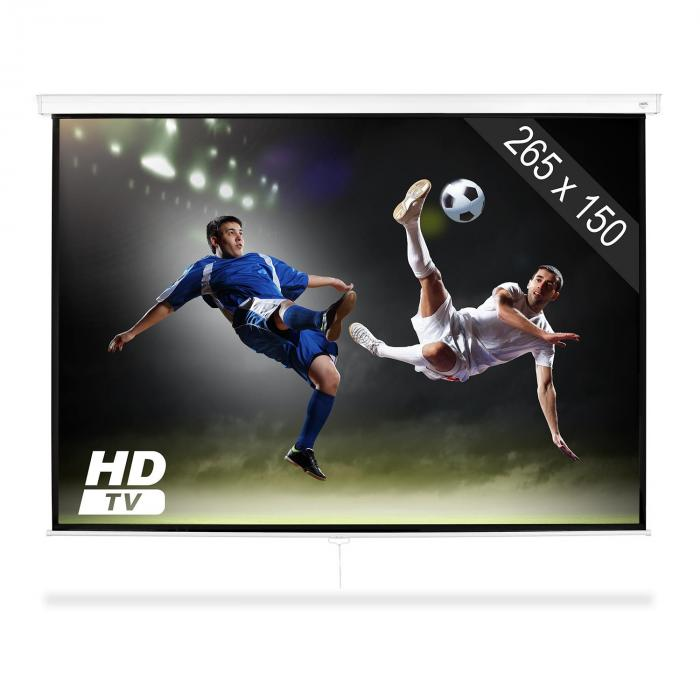 "SLS-120 Projector Screen 120"" 265 x 150 cm Home Cinema Projector HDTV"