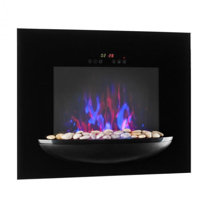 feuerschale elektro wandkamin 1800w flammenillusion dekosteine schwarz online kaufen. Black Bedroom Furniture Sets. Home Design Ideas