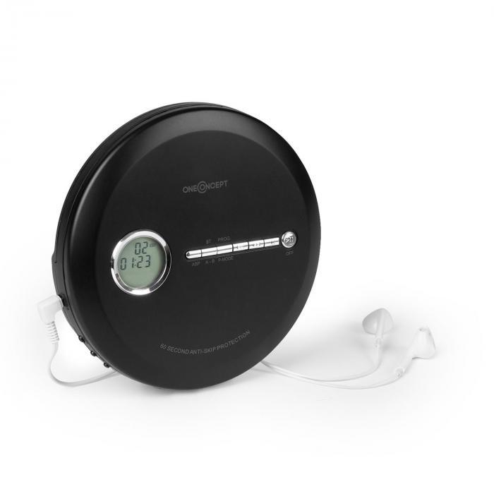 OneConcept CDC 100MP3 Discman Odtwarzacz CD ESP Micro-USB czarny
