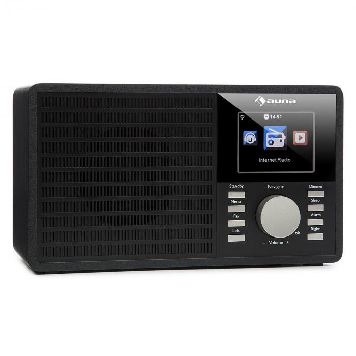 "IR-160 Internet Radio WLAN USB AUX UPnP 2.8"" TFT Display Remote Control Black"