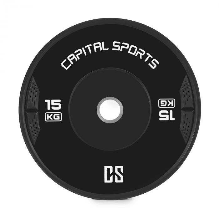 Elongate Bumper Plate Disco Peso Gomma 15kg