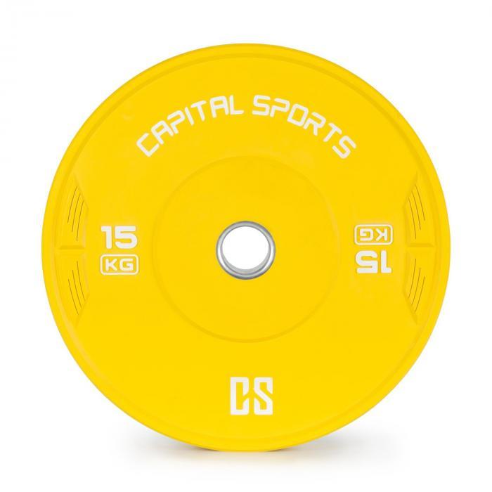 Nipton Bumper Plate levypainot | 1 x 15kg | kovakumi keltainen
