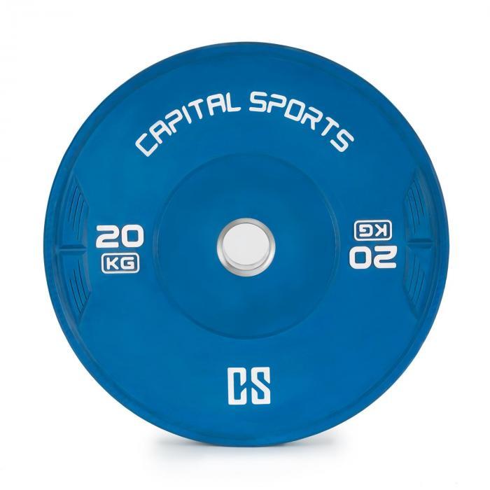 Nipton Bumper Plate levypainot | 1 x 20 kg | kovakumi sininen