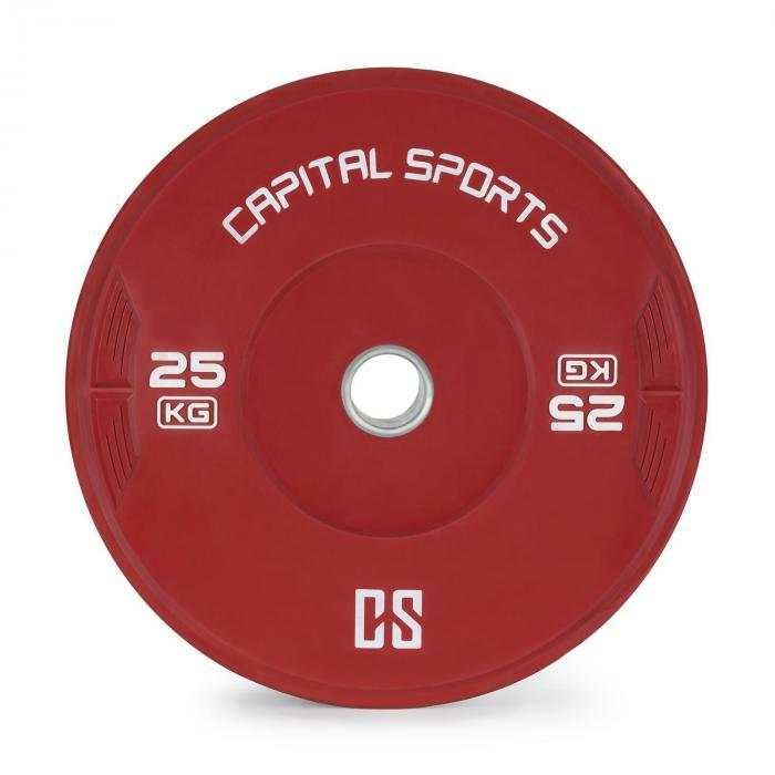 Nipton Bumper Plate Disco Peso| 1 x 25 kg | Gomma Dura rosso