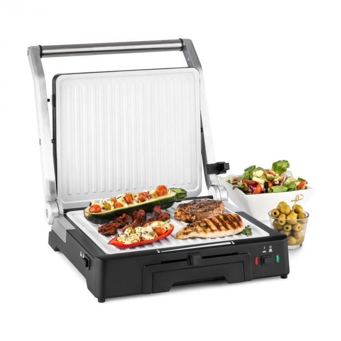 Klarstein Burgermeister 3w1 Stołowy grill kontaktowy grill do kanapek panini 200
