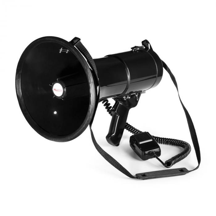 MEGA080 Megafono 80 W | Portata 700m | Impermeabile | Cinghia | Nero