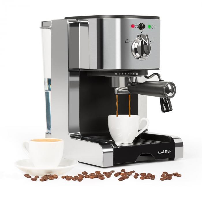Passionata 20 espressokeitin 20 bar cappuccino maitovaahto hopea