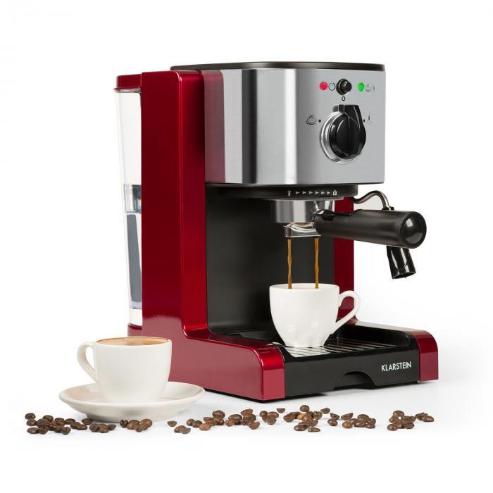 Passionata Rossa 20 espressokeitin 20 bar cappuccino maitovaahto punainen
