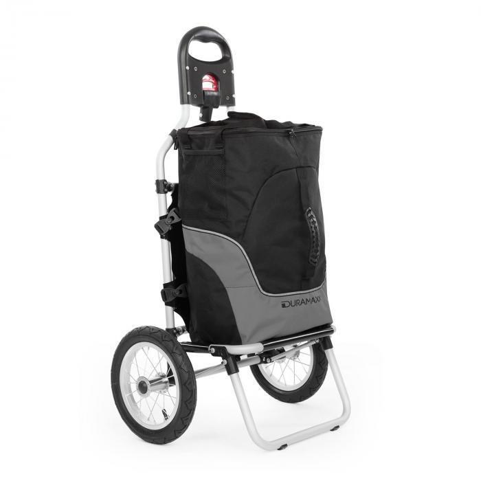 DURAMAXX Carry Grey Fahrradanhänger Handwagen max Traglast 20kg schwarz/grau