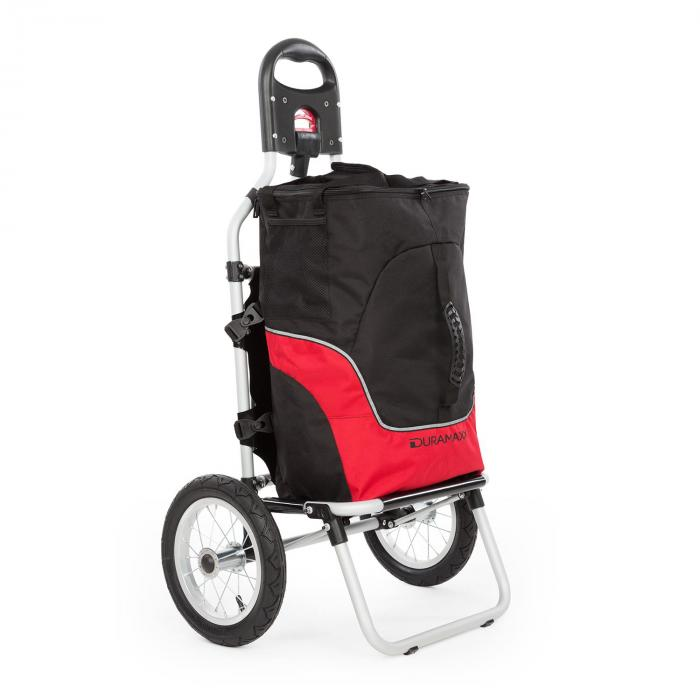 DURAMAXX Carry Red Fahrradanhänger Handwagen max Traglast 20 kg schwarz/rot