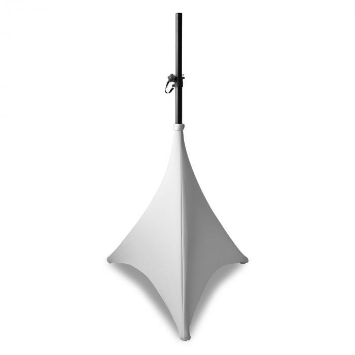Beamz Lycra Pokrowiec na statyw 70 cm 2-strona tkanina zamek błyskawiczny kolor biały