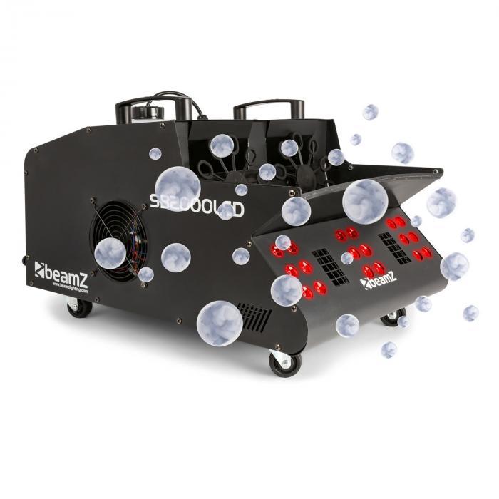 SB2000LED sumu- & saippuakuplakone 2000W, 1,35L säiliö RGB-LED:it DMX