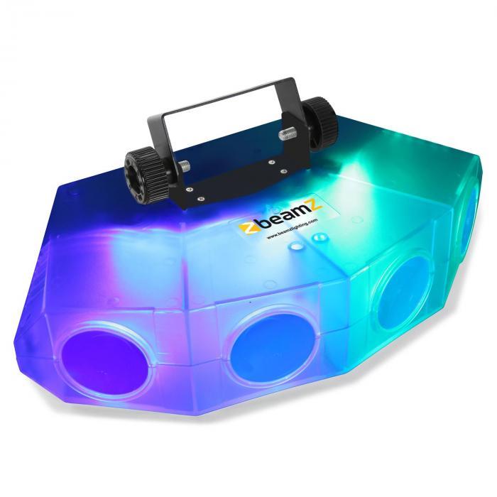 Mini-Moonflower-valoefekti 4-LED-linssiä 132xRGBA-LEDiä läpinäkyvä